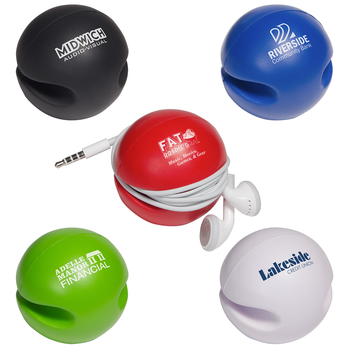 Cushy Earbud Keeper Stress Reliever, LTV-CS15, 1 Colour Imprint