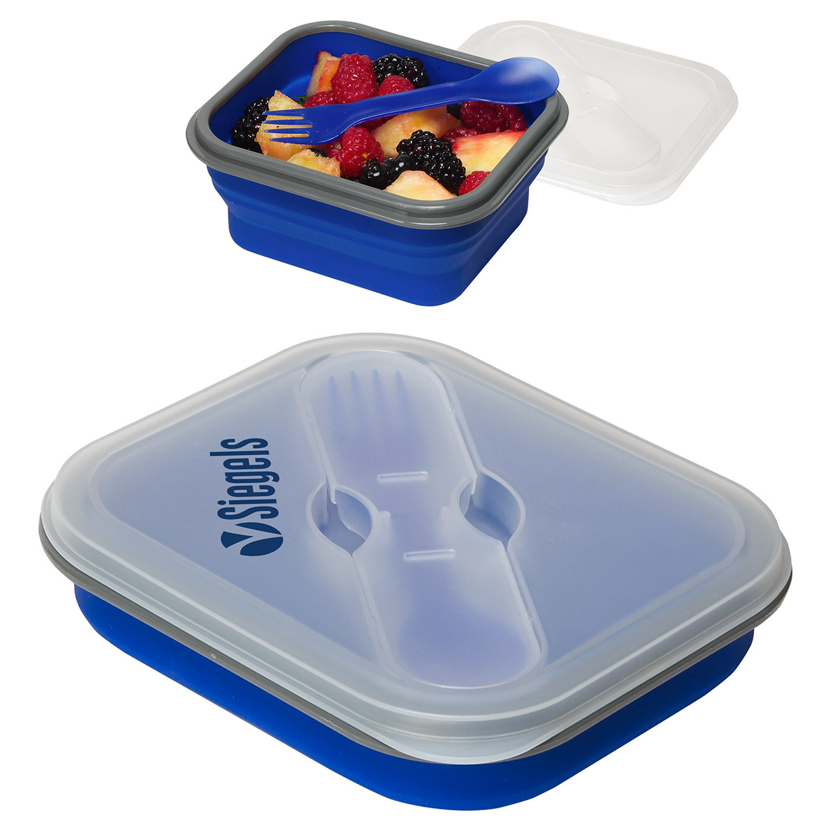 Collapsible Silicone Lunch Box, WKA-CL16 - 1 Colour Imprint
