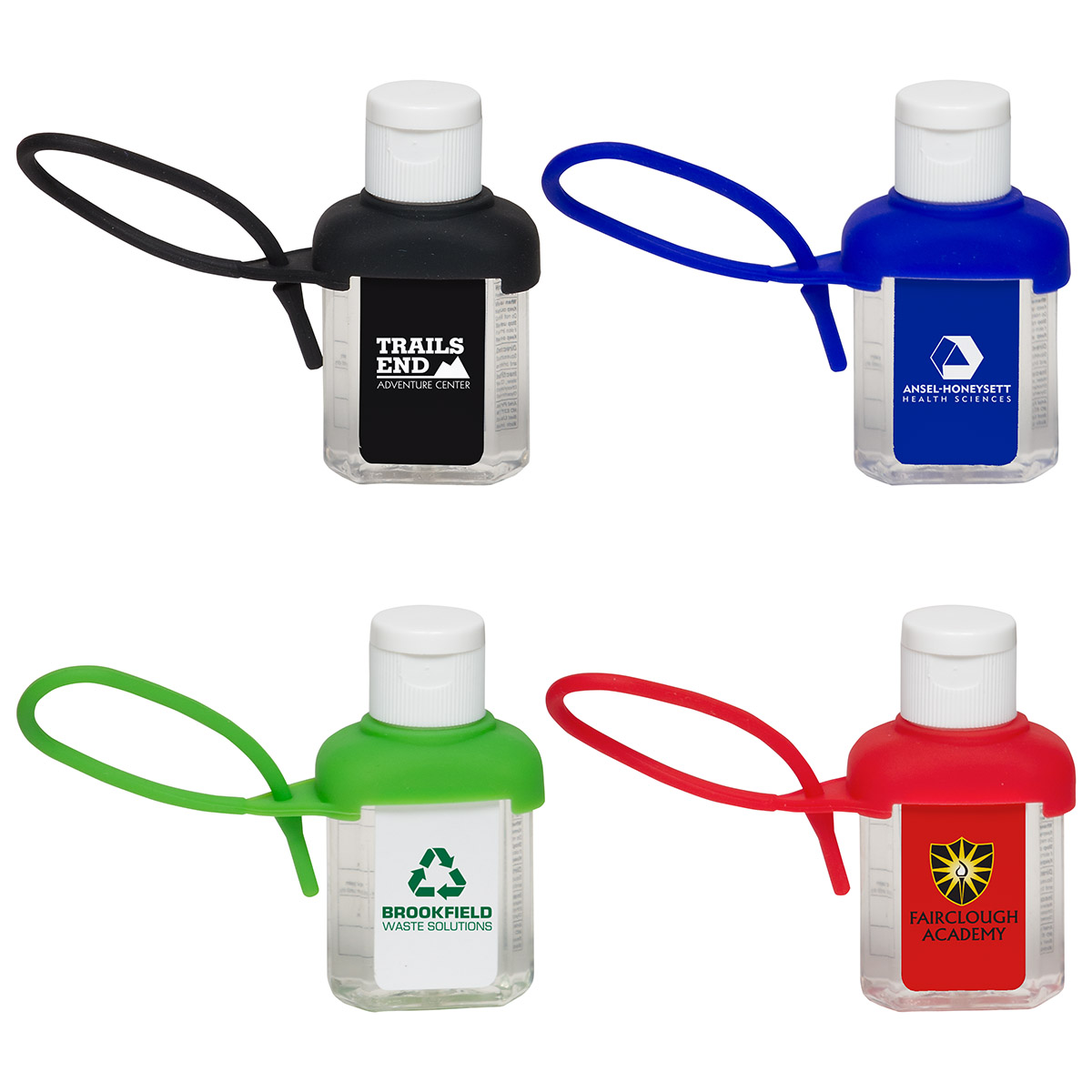 1 Oz. Caddy Strap Alcohol Free Hand Sanitizer, WSA-CA16 - 1 Colour Imprint