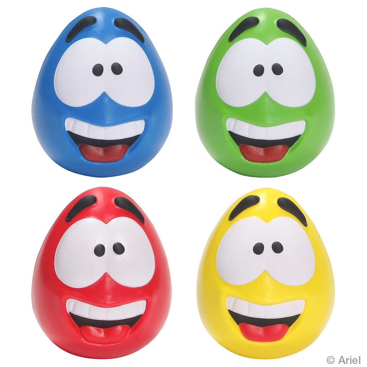 Happy Face Slo-Release Serenity Squishy, LGS-HF18, 1 Colour Imprint