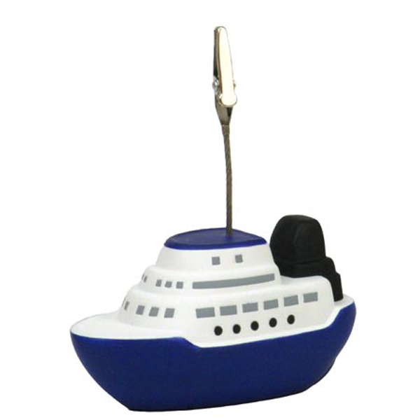 Cruise Boat Stress Reliever Memo Holder, LMH-CR24, 1 Colour Imprint