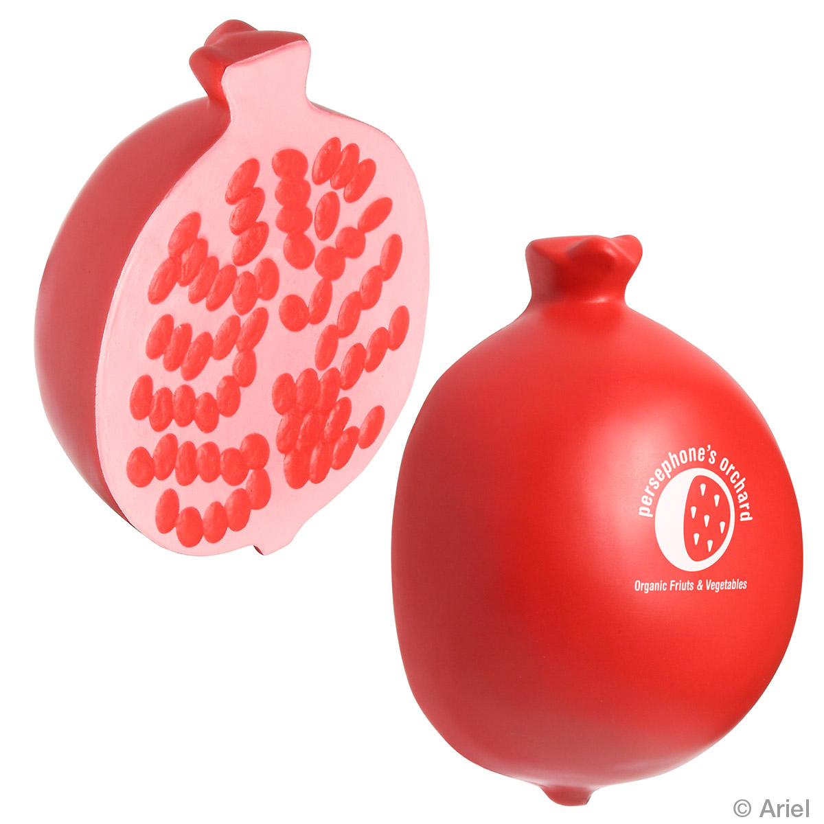 Pomegranate Stress Reliever, LFR-PM08, 1 Colour Imprint