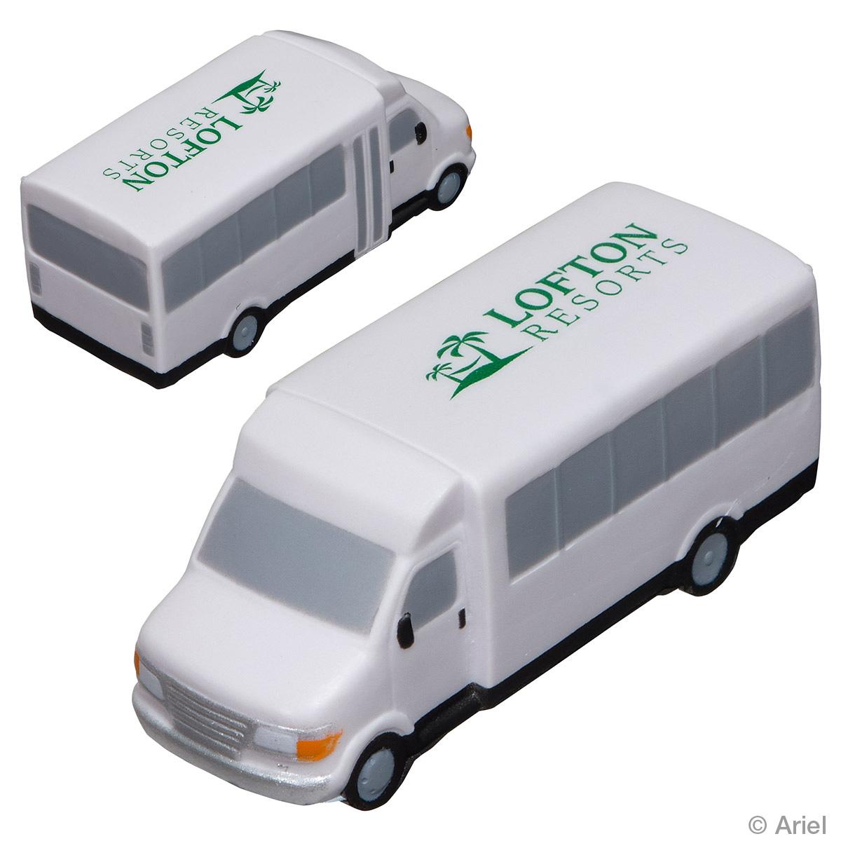 Shuttle Bus Stress Reliever, LTR-SH08 - 1 Colour Imprint