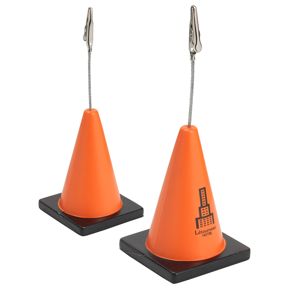 Construction Cone Stress Reliever Memo Holder, LMH-CC04 - 1 Colour Imprint