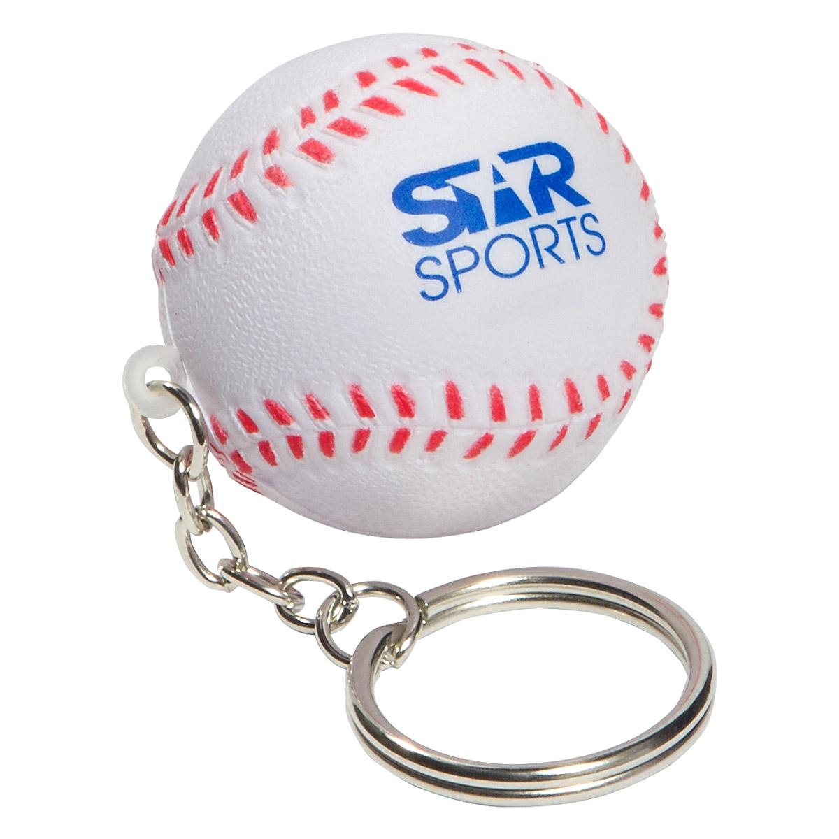 Baseball Stress Reliever Keychain, LKC-BA01 - 1 Colour Imprint