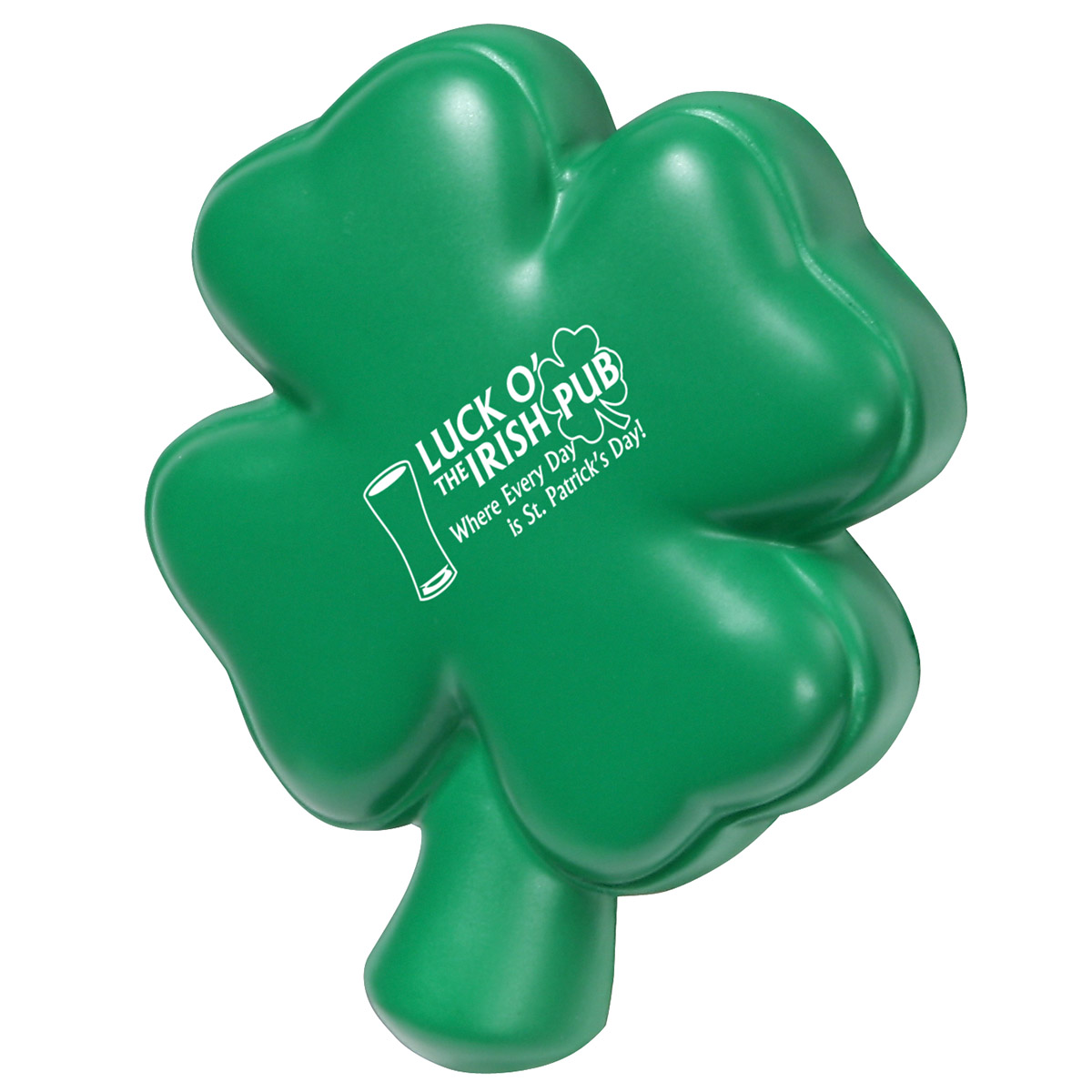 4-Leaf Clover Stress Reliever, LHO-FC08 - 1 Colour Imprint