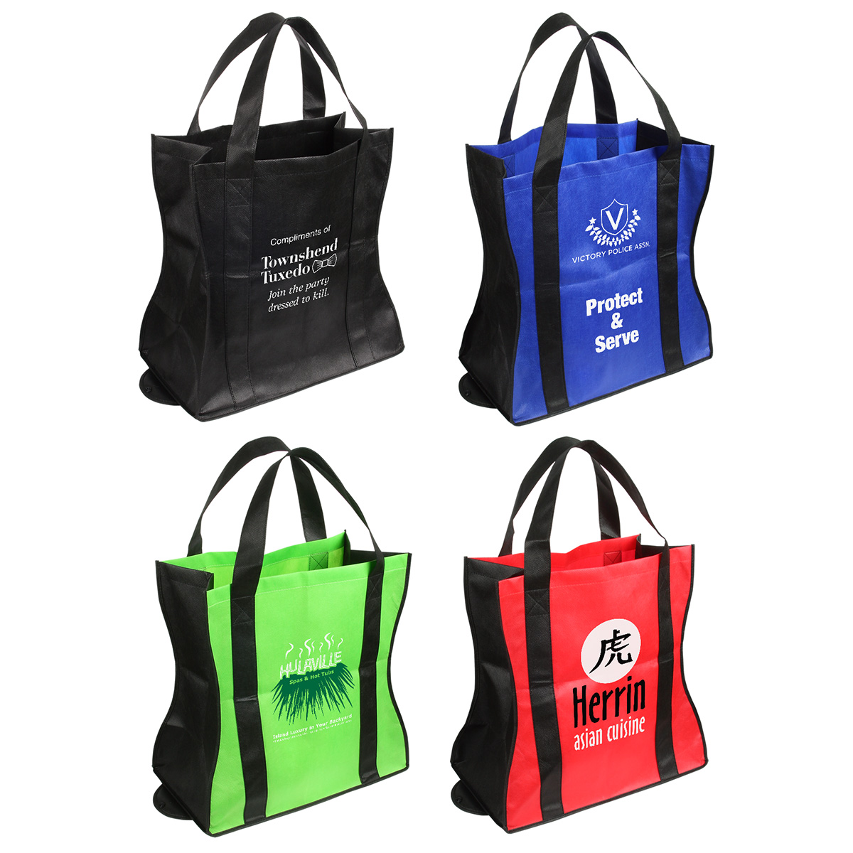Wave Rider Folding Tote Bag, WBA-WR10 - 1 Colour Imprint