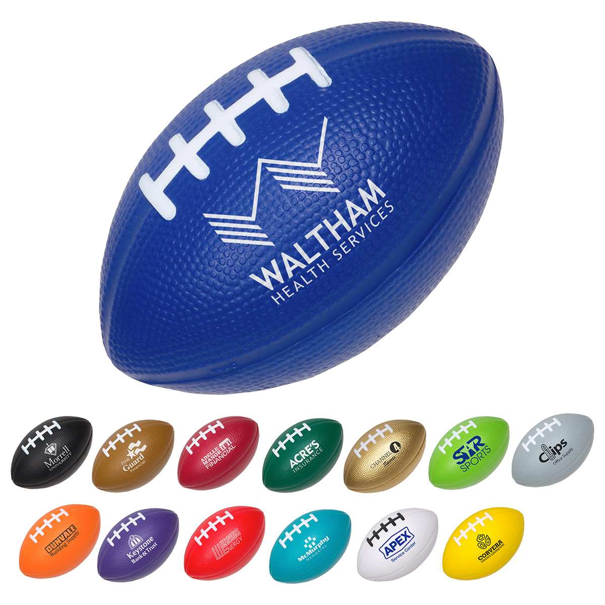 Medium Football Stress Reliever, LSP-FB15, 1 Colour Imprint