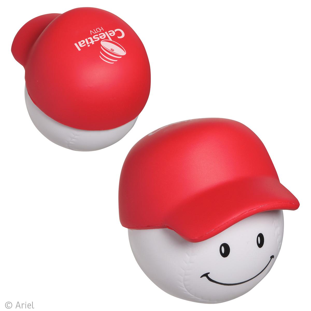 Baseball Mad Cap Stress Reliever, LMA-BH13 - 1 Colour Imprint