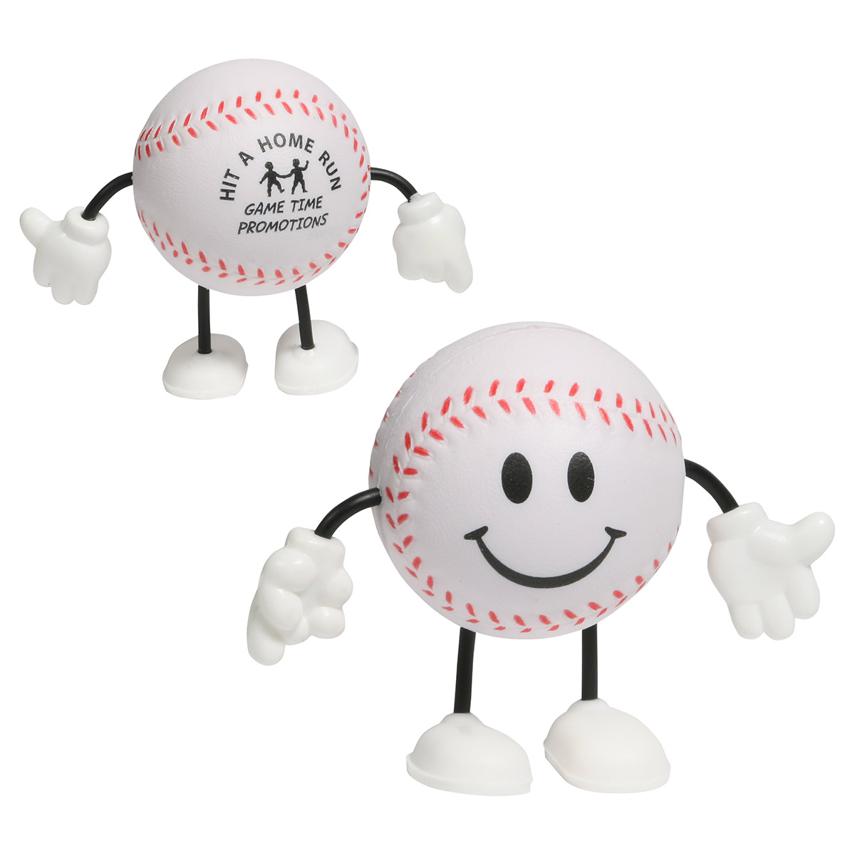 Baseball Figure Stress Reliever, LCH-BA01 - 1 Colour Imprint