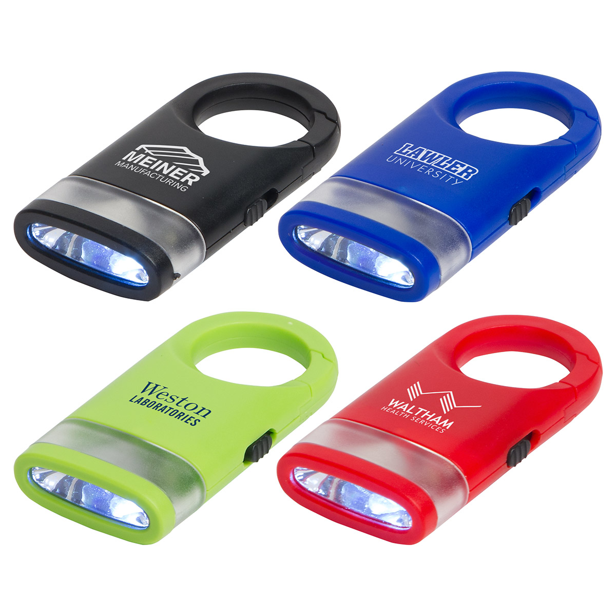 Dual Shine LED Light Carabiner, WLT-DS16 - 1 Colour Imprint