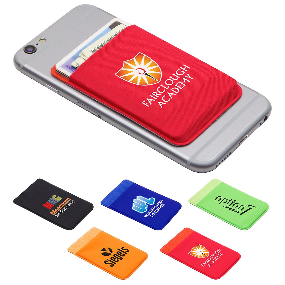 Expanding Lycra Phone Wallet, WCP-EW16 - 1 Colour Imprint