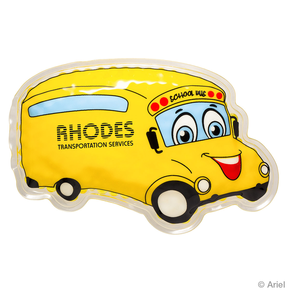 School Bus Hot/Cold Pack, WHF-SB17 - 1 Colour Imprint