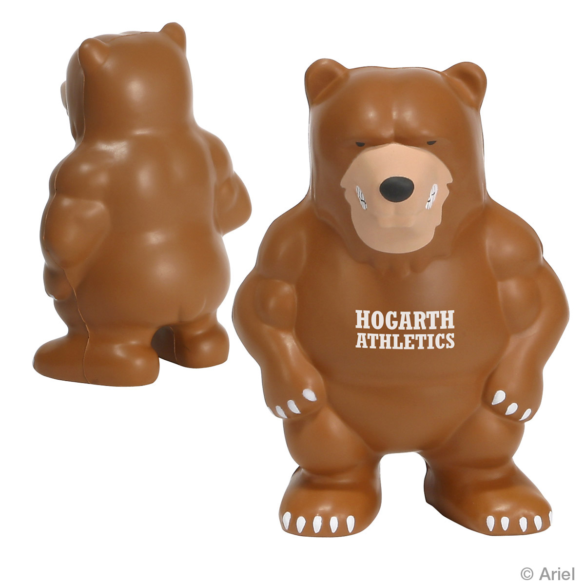 Bear Mascot Stress Reliever, LMT-BE07 - 1 Colour Imprint