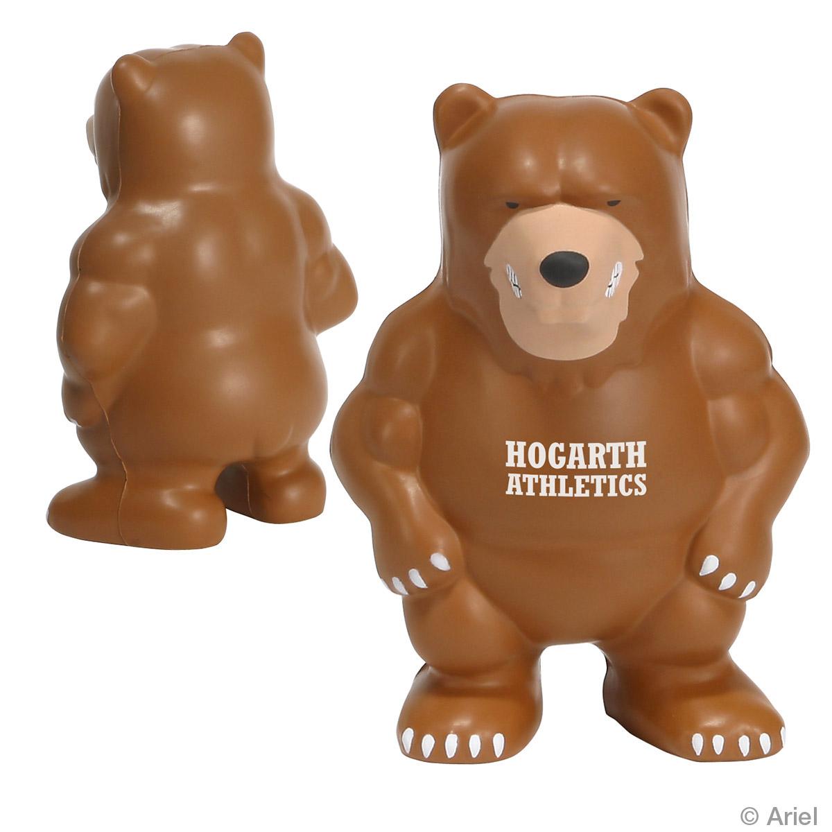 Bear Mascot Stress Reliever, LMT-BE07, 1 Colour Imprint