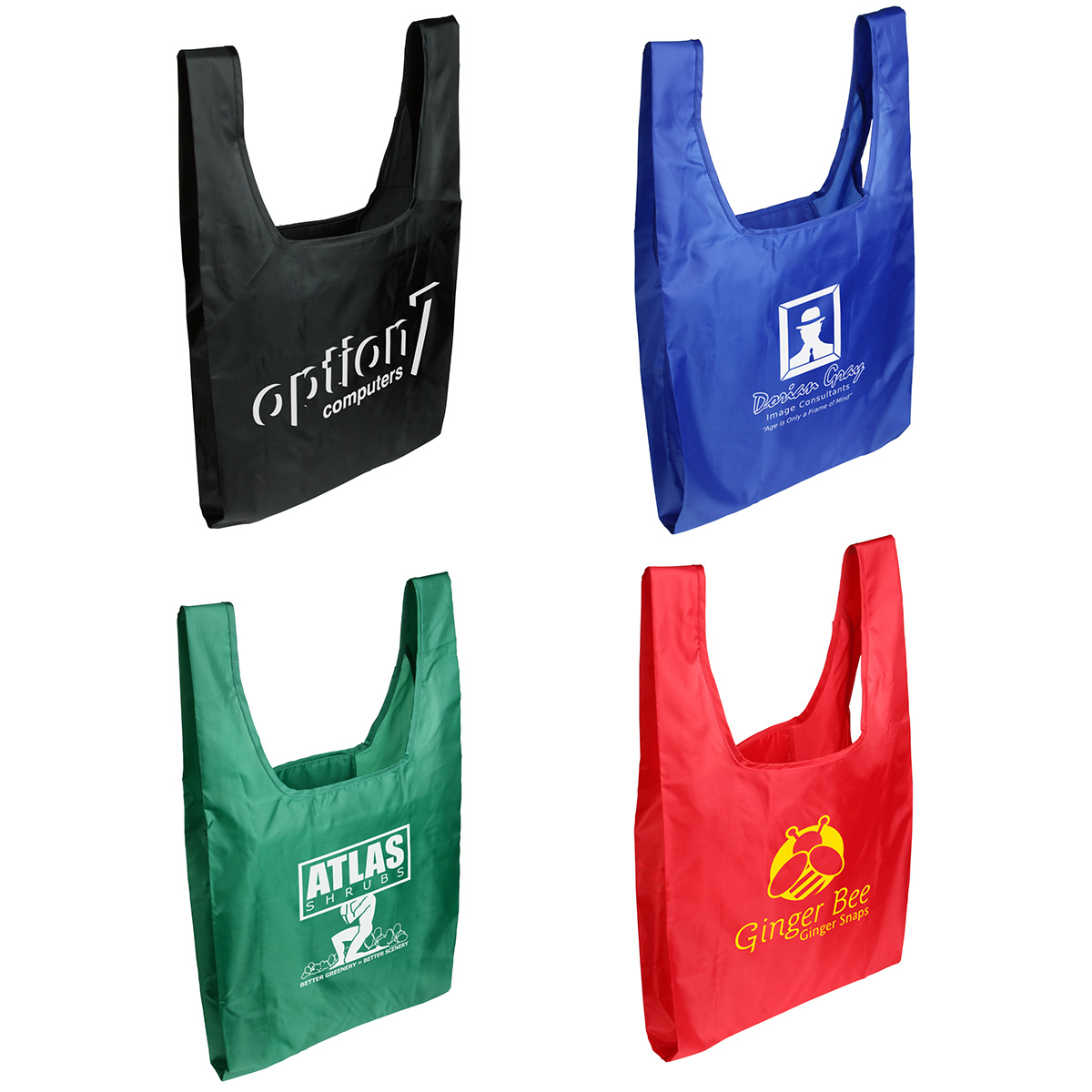 Tide Twister Folding Tote Bag, WBA-TT10 - 1 Colour Imprint