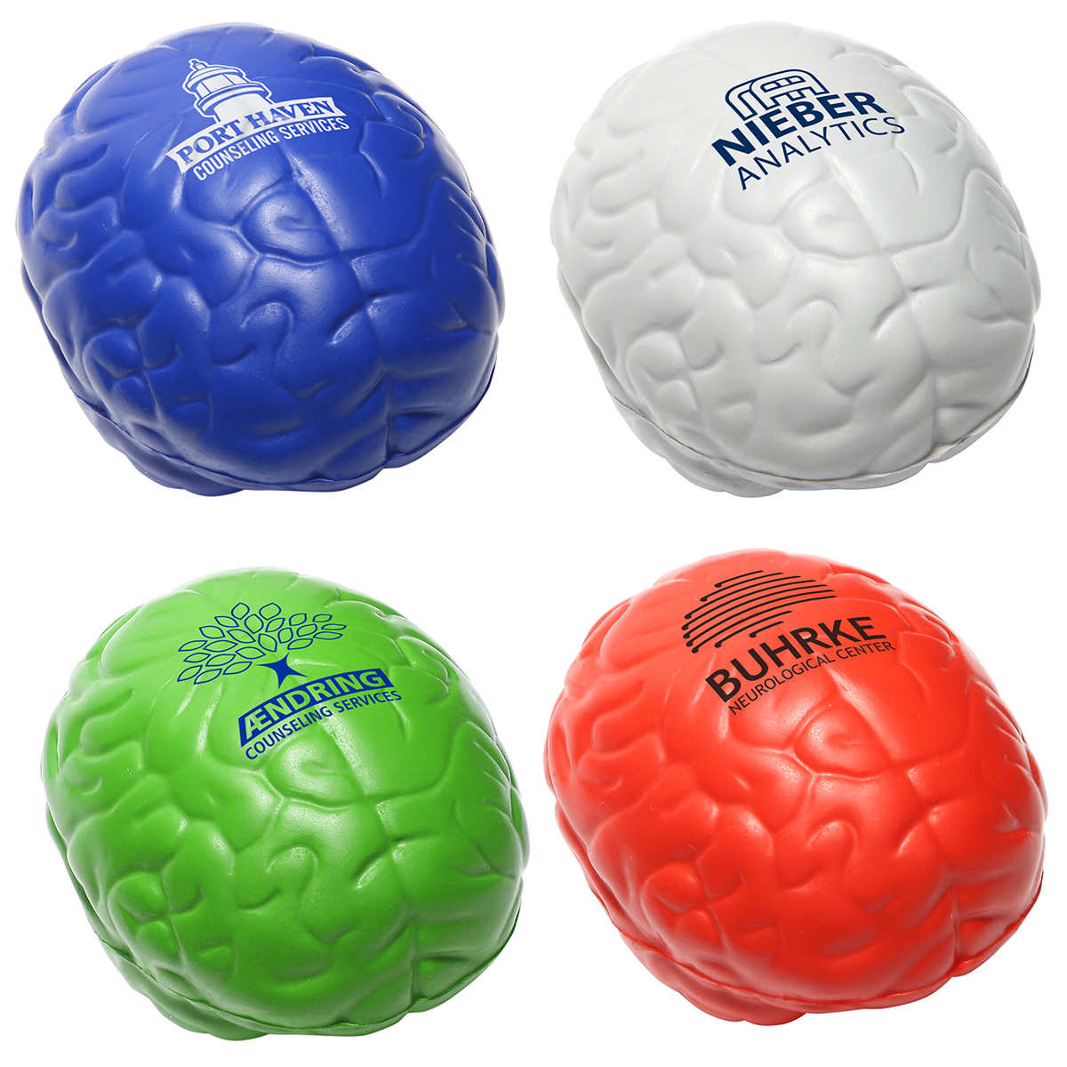 Brain Slo-Release Serenity Squishy(TM), LAN-BS18, 1 Colour Imprint