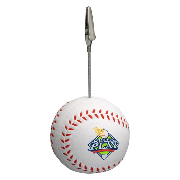 Baseball Memo Holder Stress Reliever, LMH-BA01 - 1 Colour Imprint