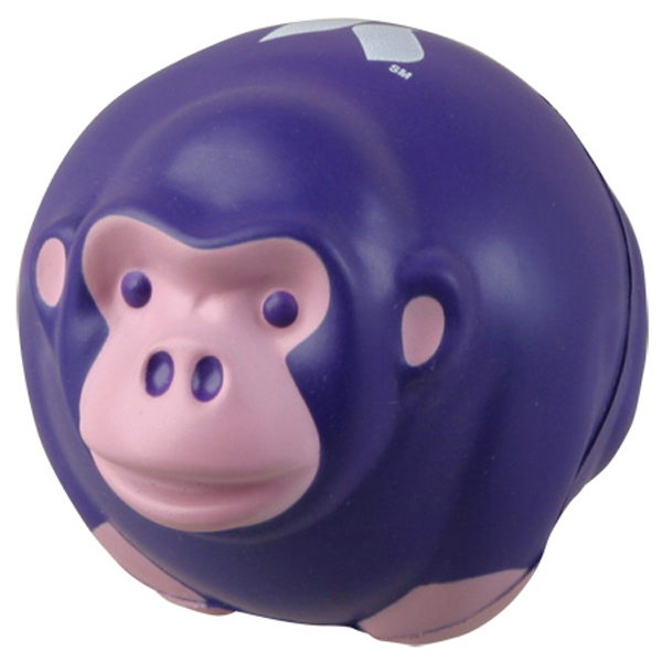 Monkey Ball Stress Reliever, LAZ-MK06 - 1 Colour Imprint