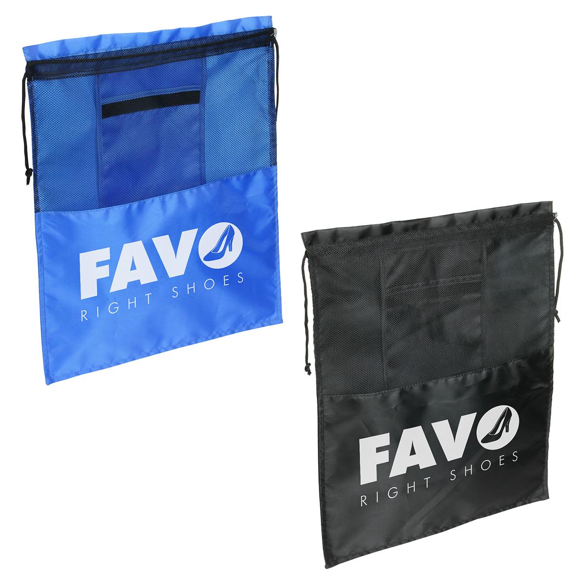 Solelo Travel Drawstring Shoe Bag, WBA-ST11 - 1 Colour Imprint