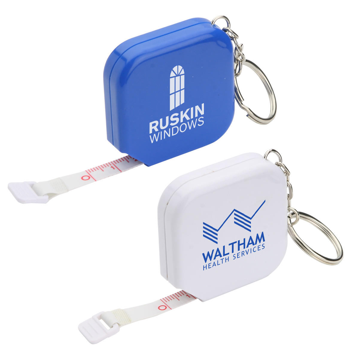 Square Tape Measure Key Chain, WTT-ST11, 1 Colour Imprint