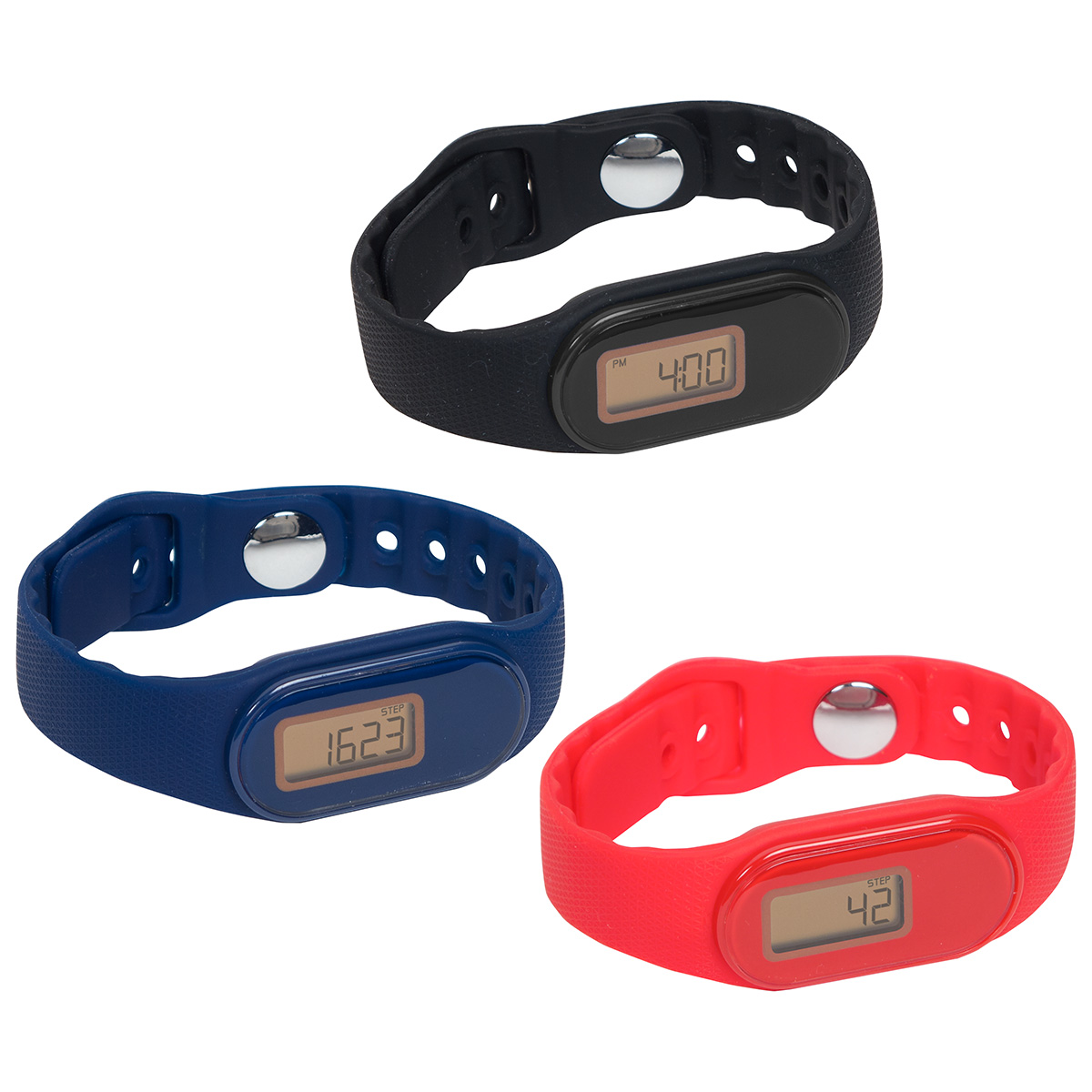 Tap 'N Read Waterproof Fitness Tracker + Pedometer Watch, WHF-TN16, 1 Colour Imprint