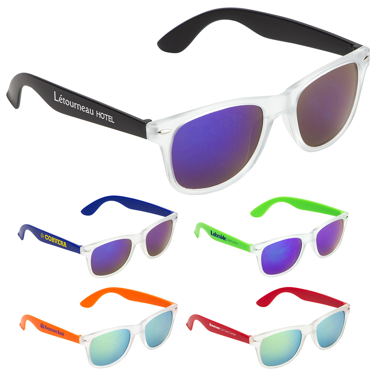 Key West Mirrored Sunglasses, WPC-KW19, 1 Colour Imprint