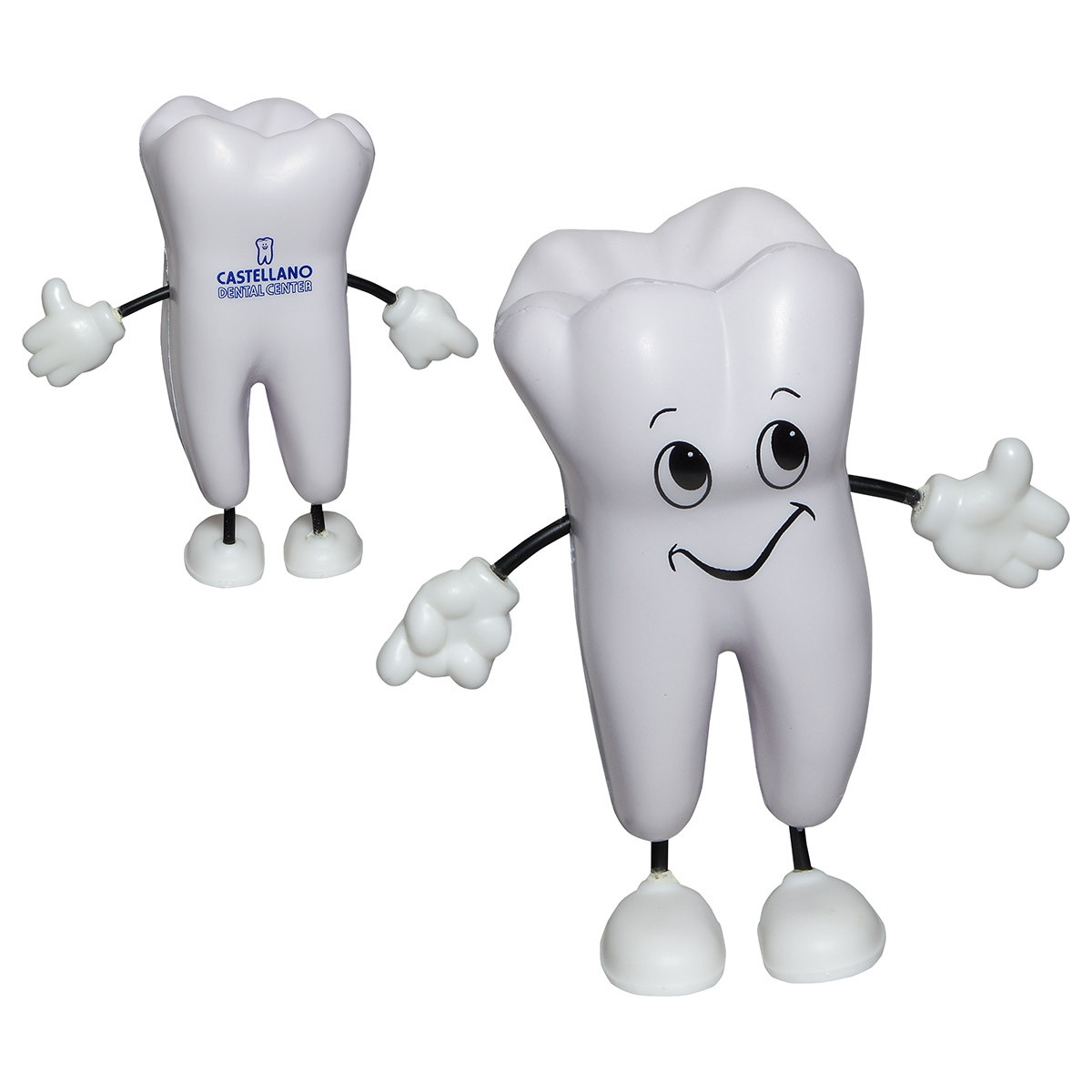 Tooth Figure Stress Reliever, LCH-TT17 - 1 Colour Imprint