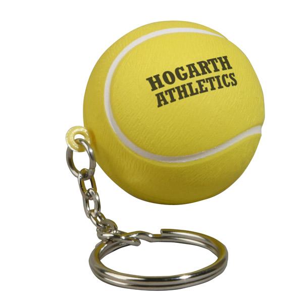 Tennis Ball Stress Reliever Key Chain, LKC-TE07, 1 Colour Imprint