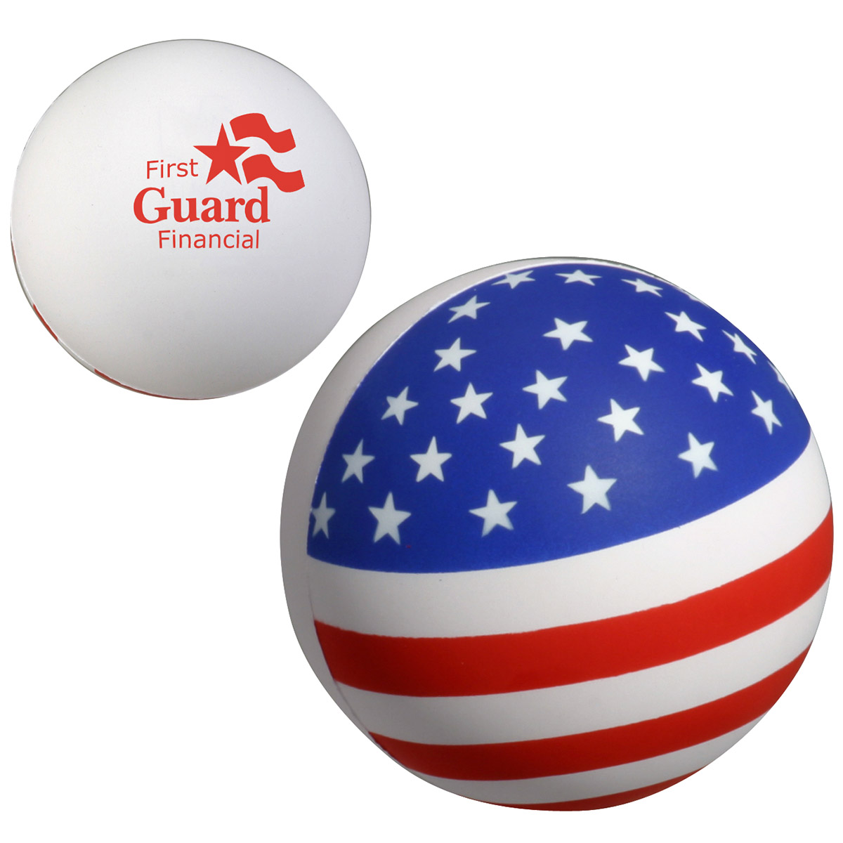 Patriotic Stress Ball, LPA-SB03, 1 Colour Imprint