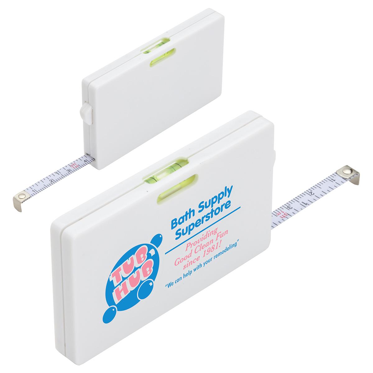 Tape Measure Card w/ Level Indicator, WTT-TC20 - 1 Colour Imprint