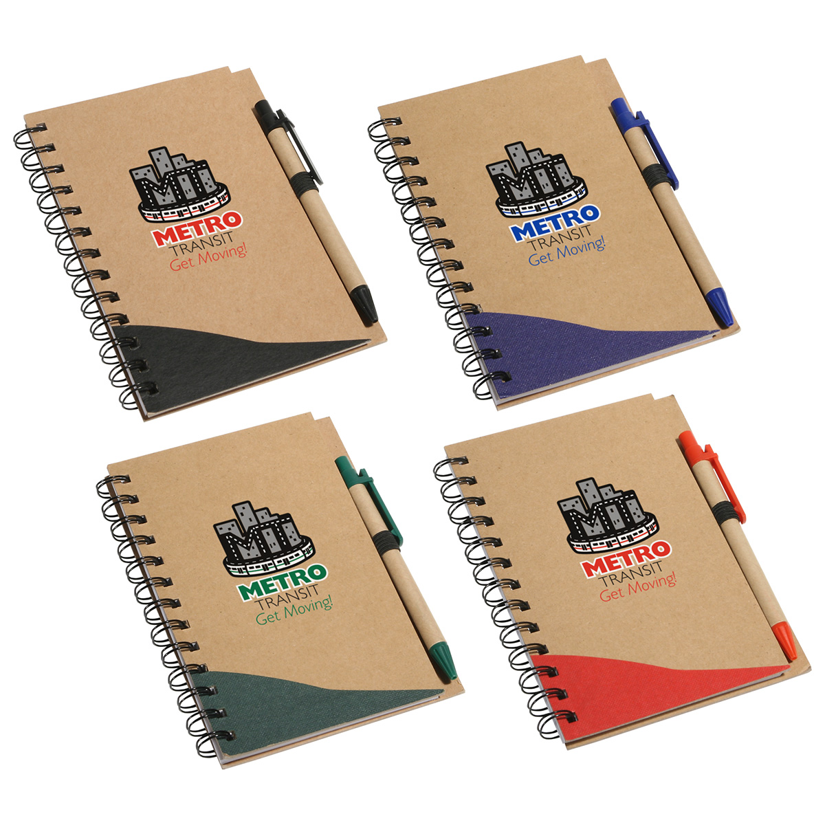 Recycle Write Notebook & Pen, WOF-RW10 - 1 Colour Imprint
