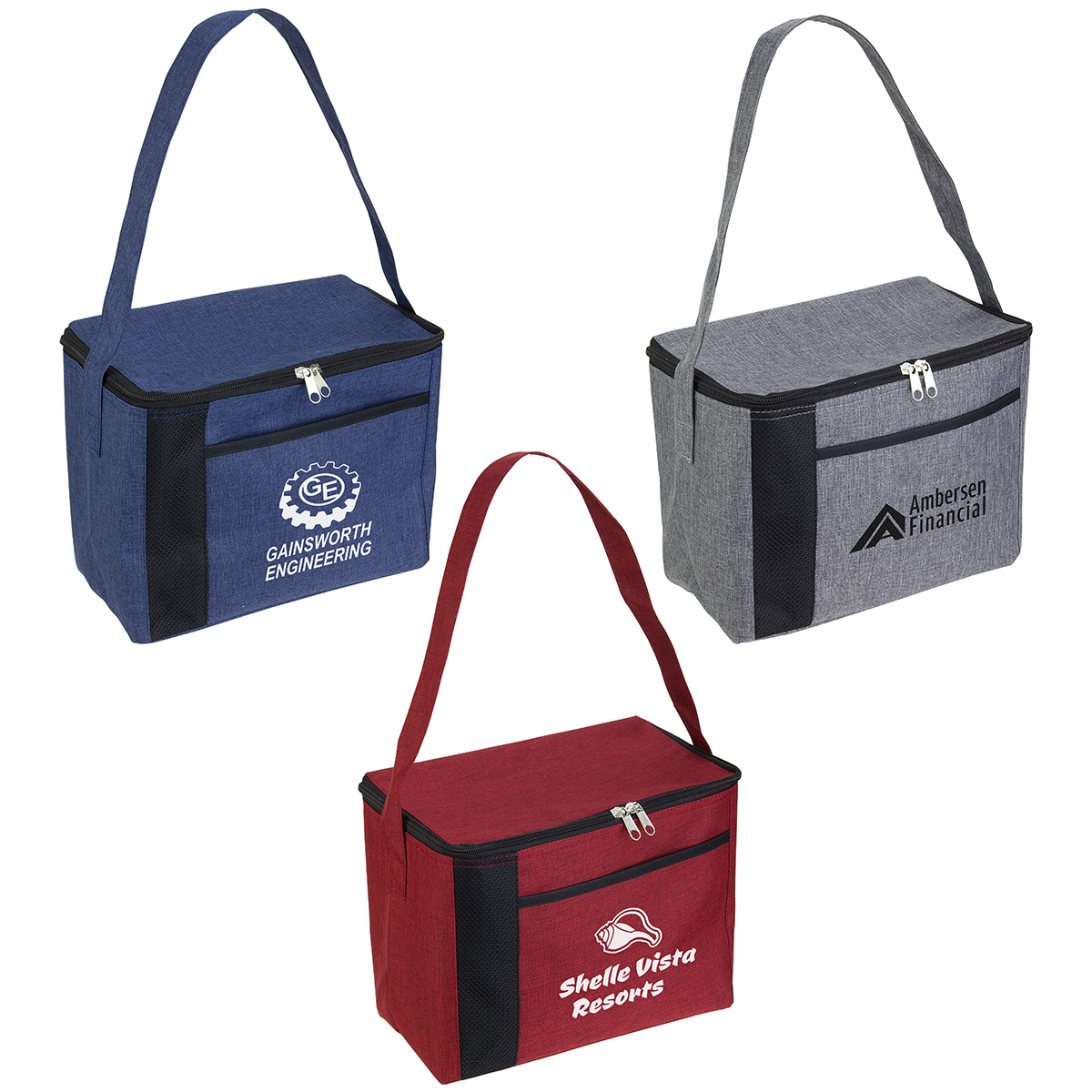 Greystone Square Cooler Bag, WBA-GS18, 1 Colour Imprint
