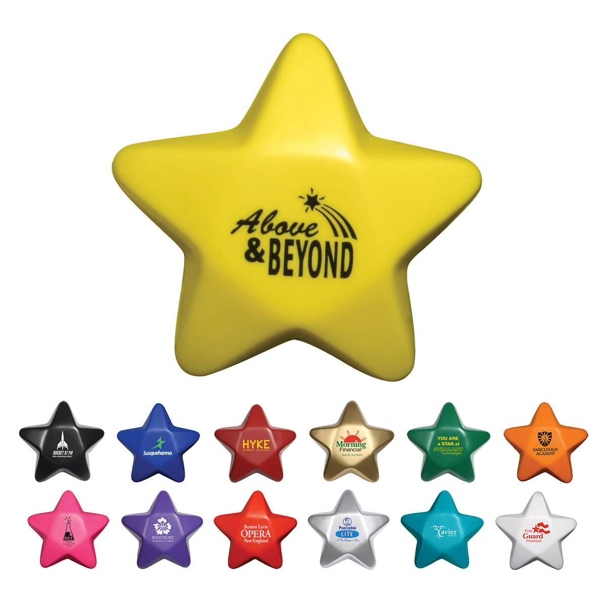 Star Stress Reliever, LGS-ST06 - 1 Colour Imprint