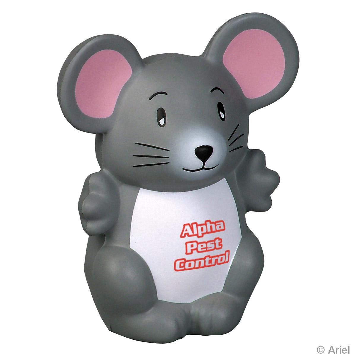 Mouse Stress Reliever, LNA-MS01, 1 Colour Imprint