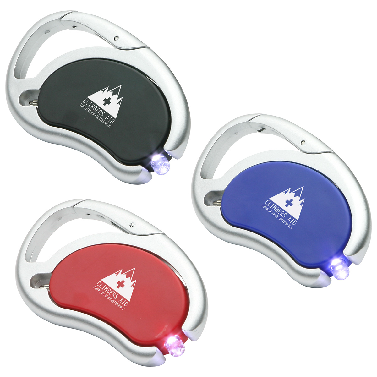 Carabiner Swivel Light & Pen, WLT-LP08, 1 Colour Imprint