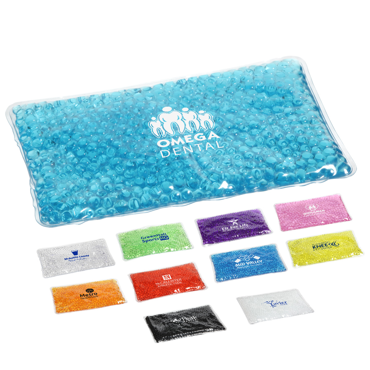 "Aqua Pearlsâ""¢ Rectangle Hot/Cold Pack, WHF-HC11 - 1 Colour Imprint"