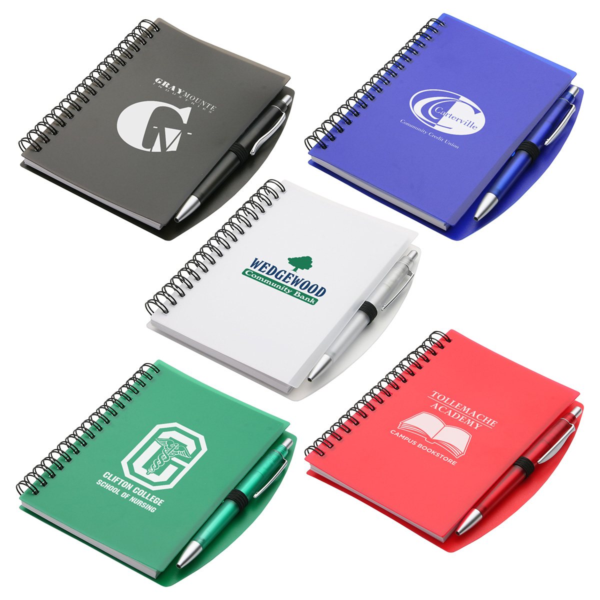 Hardcover Notebook & Pen Set, WOF-NS11 - 1 Colour Imprint