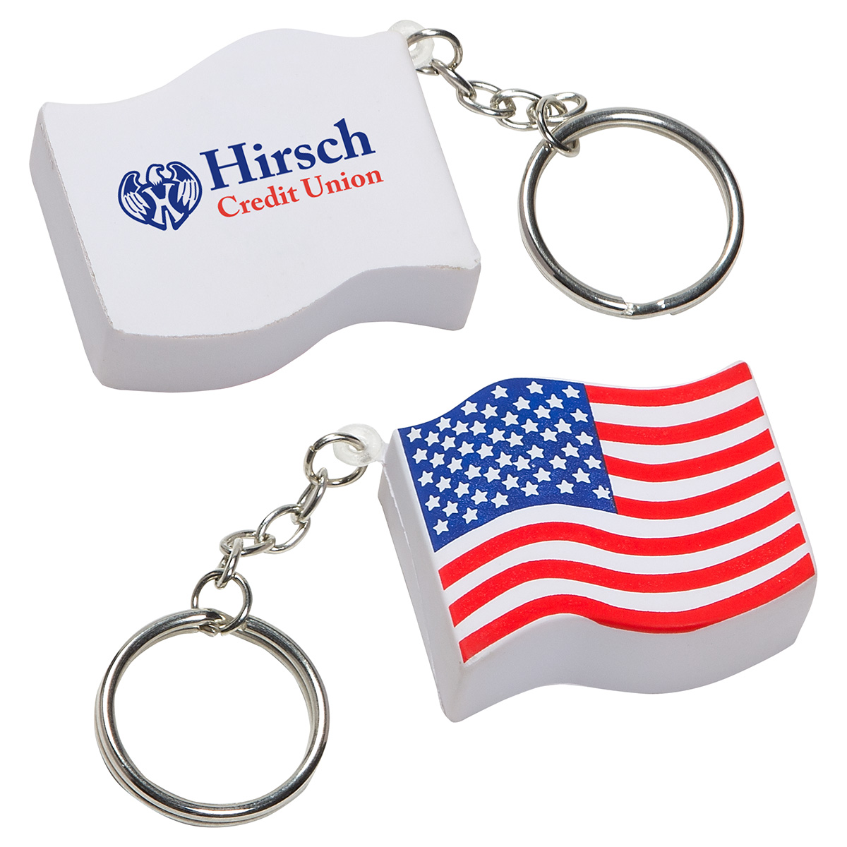 US Flag Stress Reliever Key Chain, LKC-UF01, 1 Colour Imprint