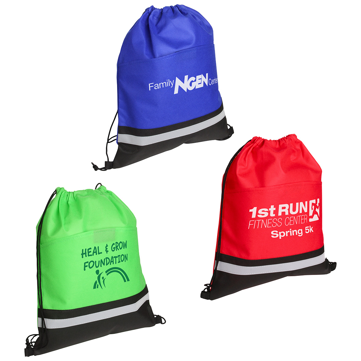 Safety Drawstring Bag, WBA-SD12, 1 Colour Imprint