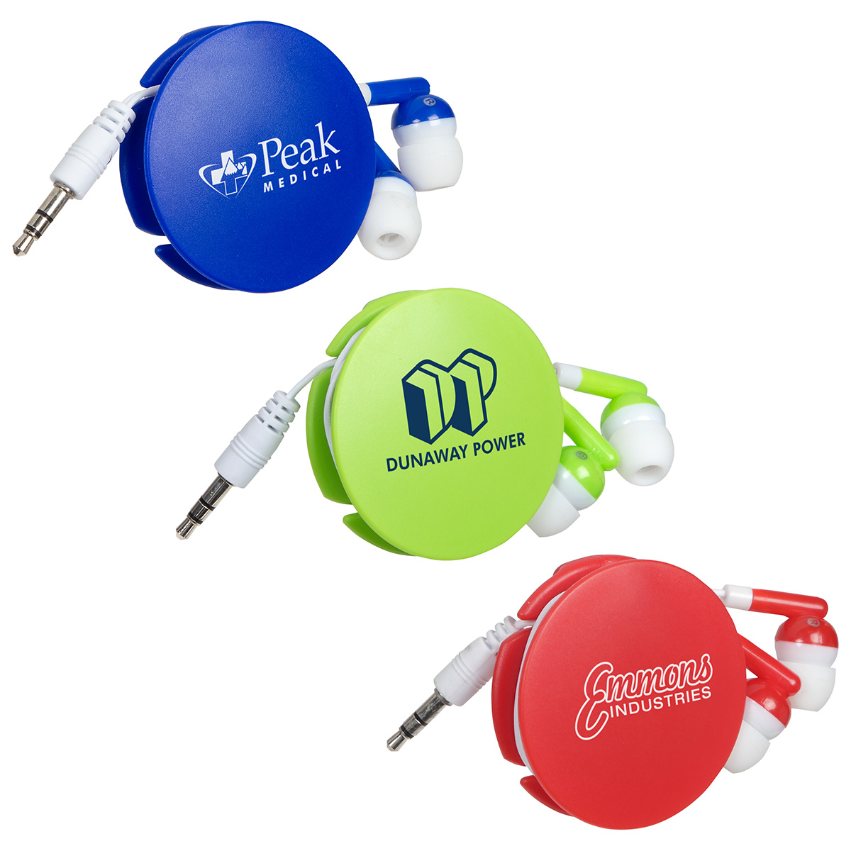 Storage Disc Clip with Earbuds, WTV-SD17, 1 Colour Imprint