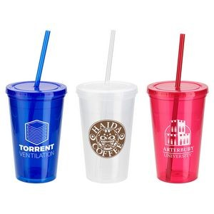 Trifecta 16 oz Tumbler with Lid + Straw