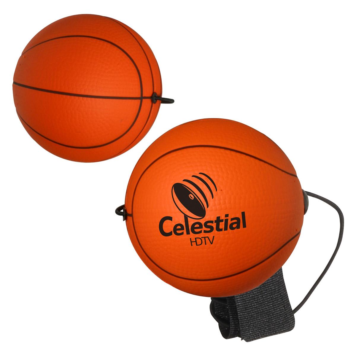 Basketball Stress Reliever Yo-Yo Bungee, LYY-BK02, 1 Colour Imprint