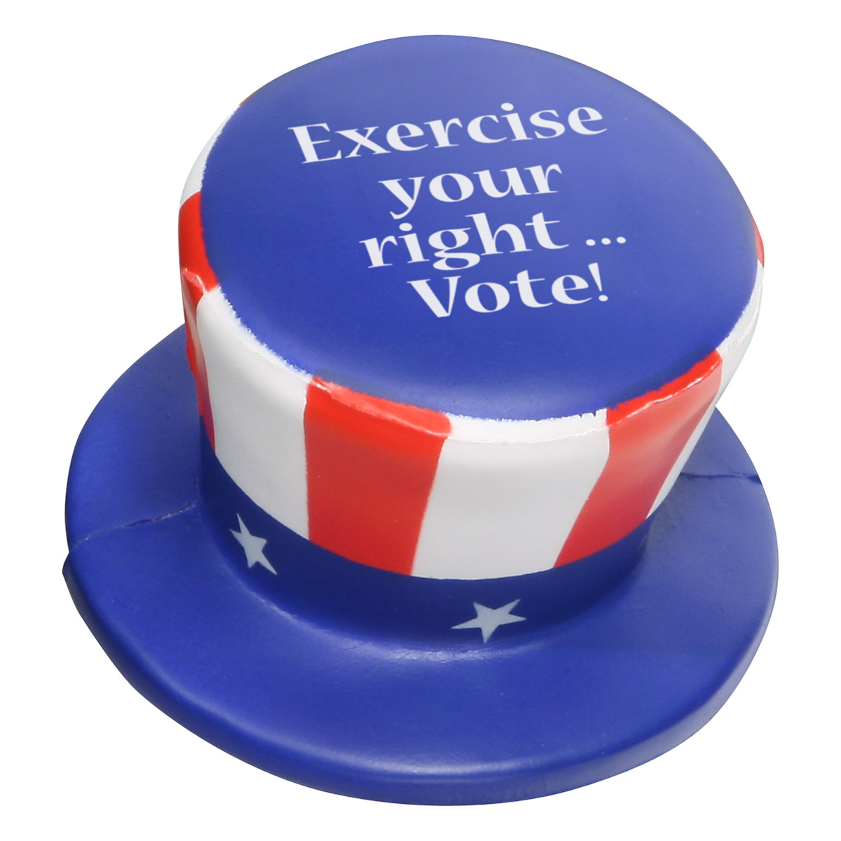 Uncle Sam Hat Stress Reliever, LPA-UH48 - 1 Colour Imprint
