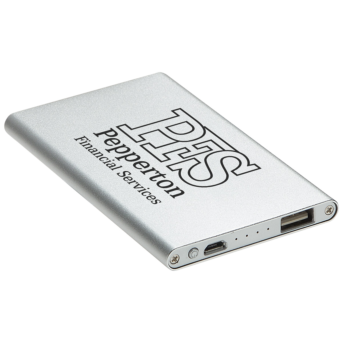 Sleek Design - 2000mAh Aluminum Power Bank, EPB-20S5, Laser Engraved Logo