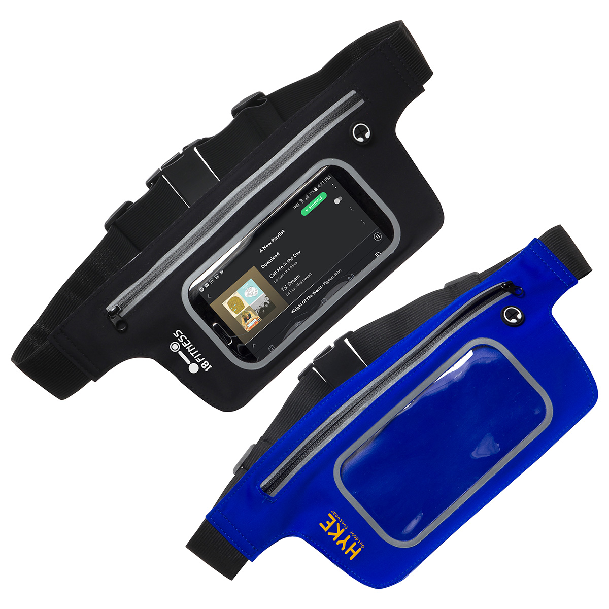 On-The-Move Touch-Thru Activity Waist Pack, WHF-OM17, 1 Colour Imprint