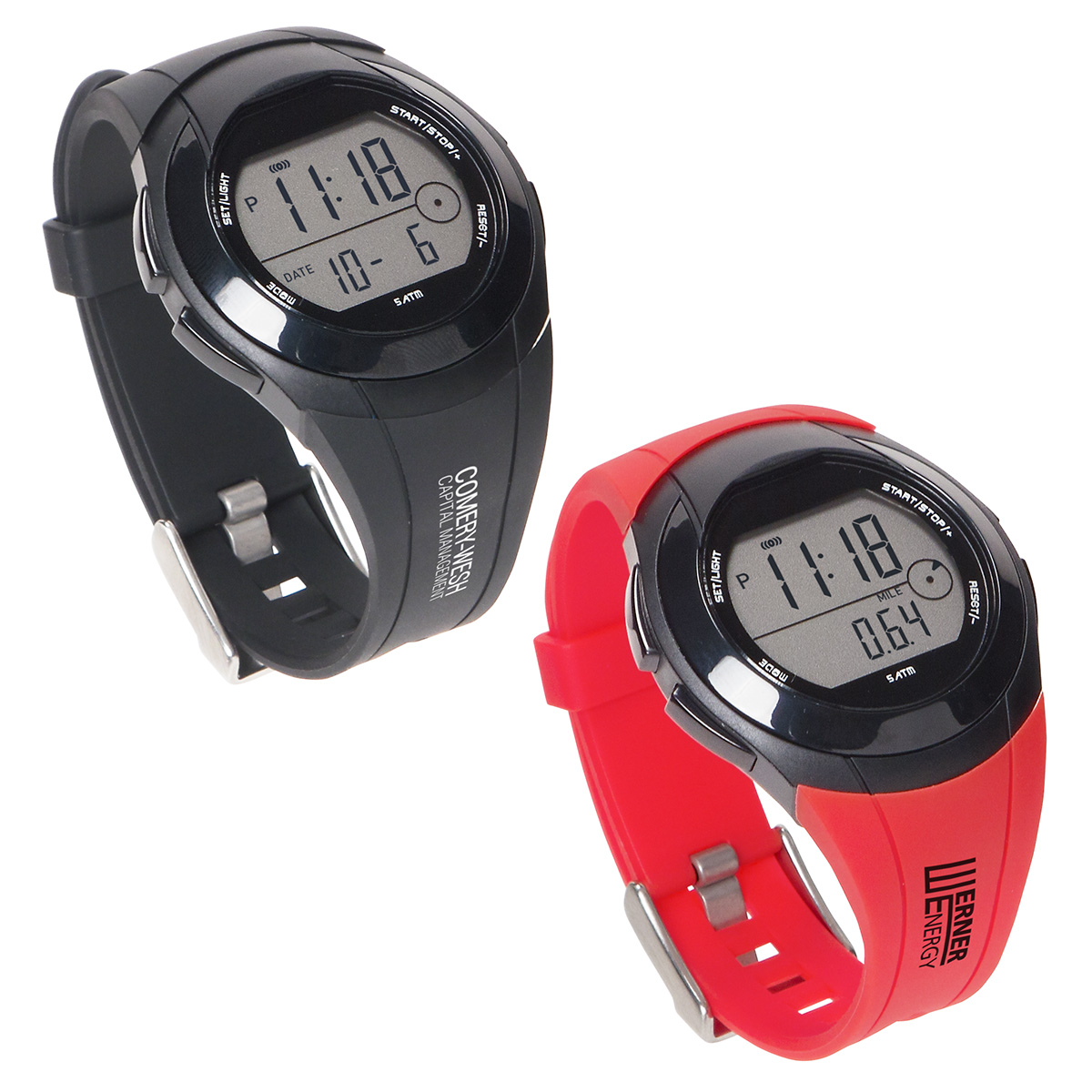 Rally Pedometer Watch, WHF-RP18, 1 Colour Imprint