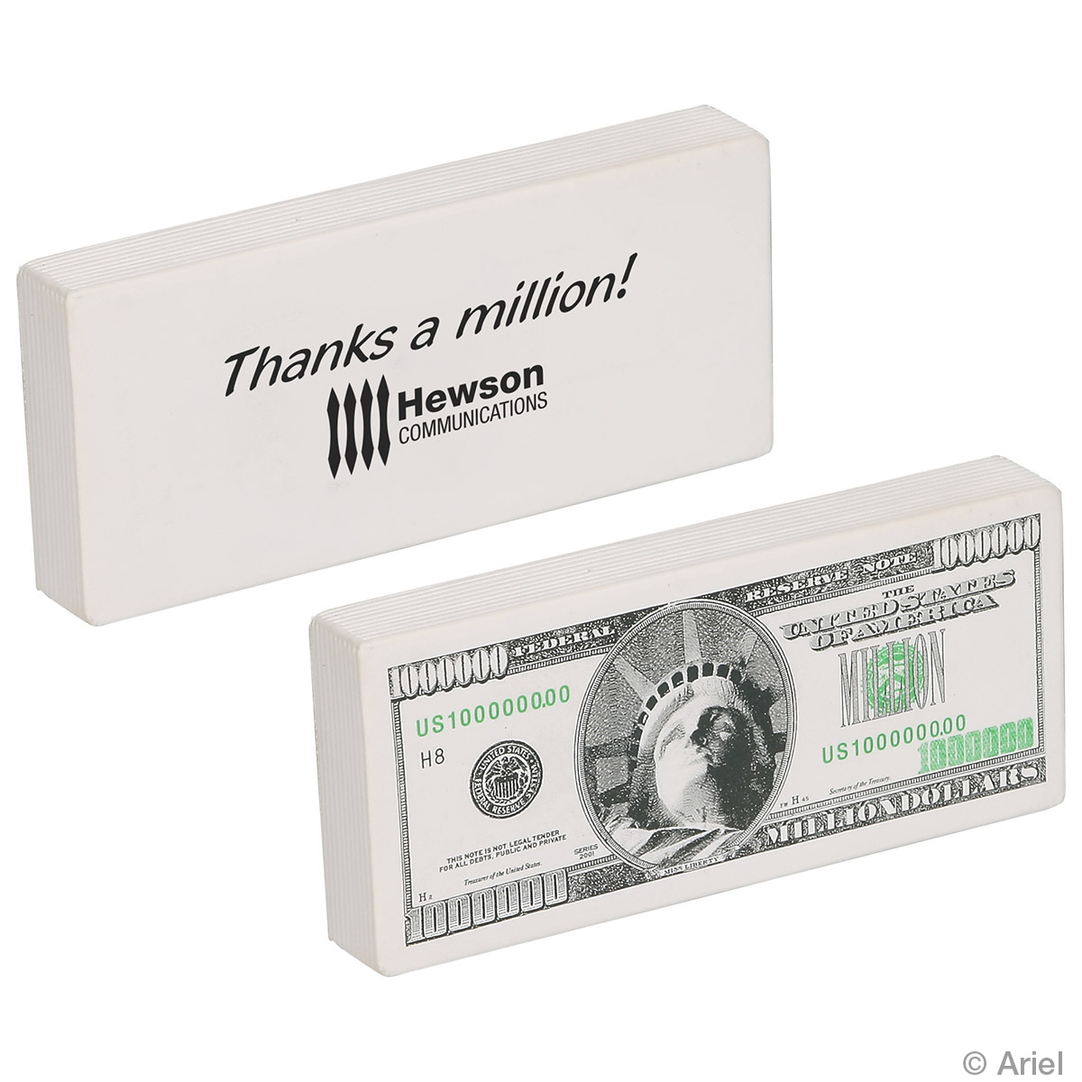 Million Dollar Bill Stress Reliever, LFN-MD01 - 1 Colour Imprint