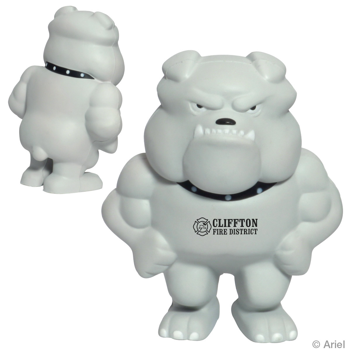 Bulldog Mascot Stress Reliever, LMT-BD06 - 1 Colour Imprint