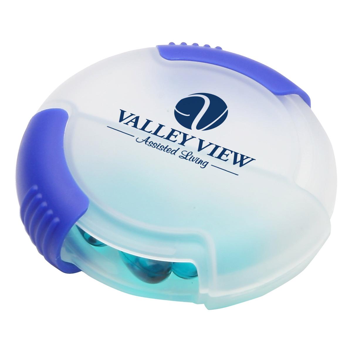 Double Slide Pill Box, WHF-PB12 - 1 Colour Imprint